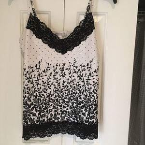 ADD-ON BLK WH cami